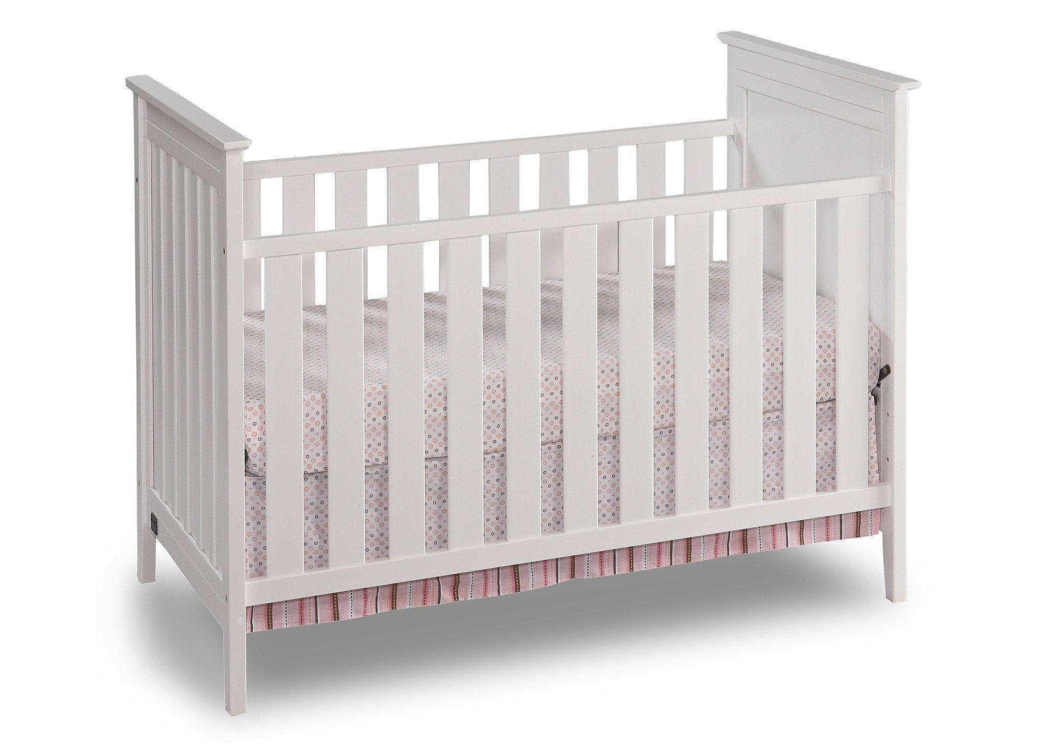 Simmons Kids White (100) Melody 3-in-1 Crib, Crib Conversion b1b