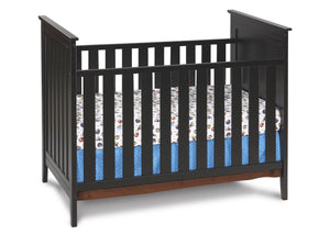 Simmons Kids Black (001) Melody 3-in-1 Crib, Crib Conversion