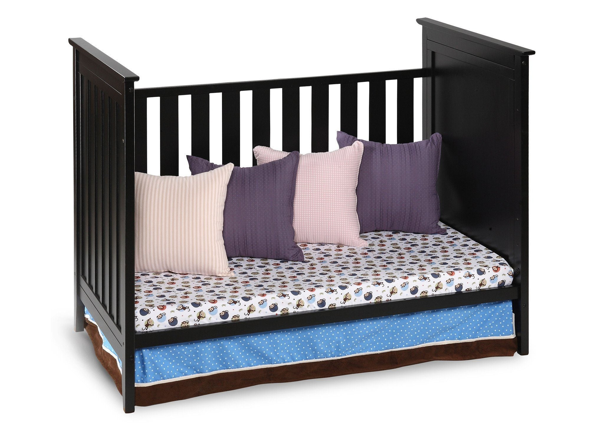 Simmons Kids Black (001) Melody 3-in-1 Crib, Day Bed Conversion a3a