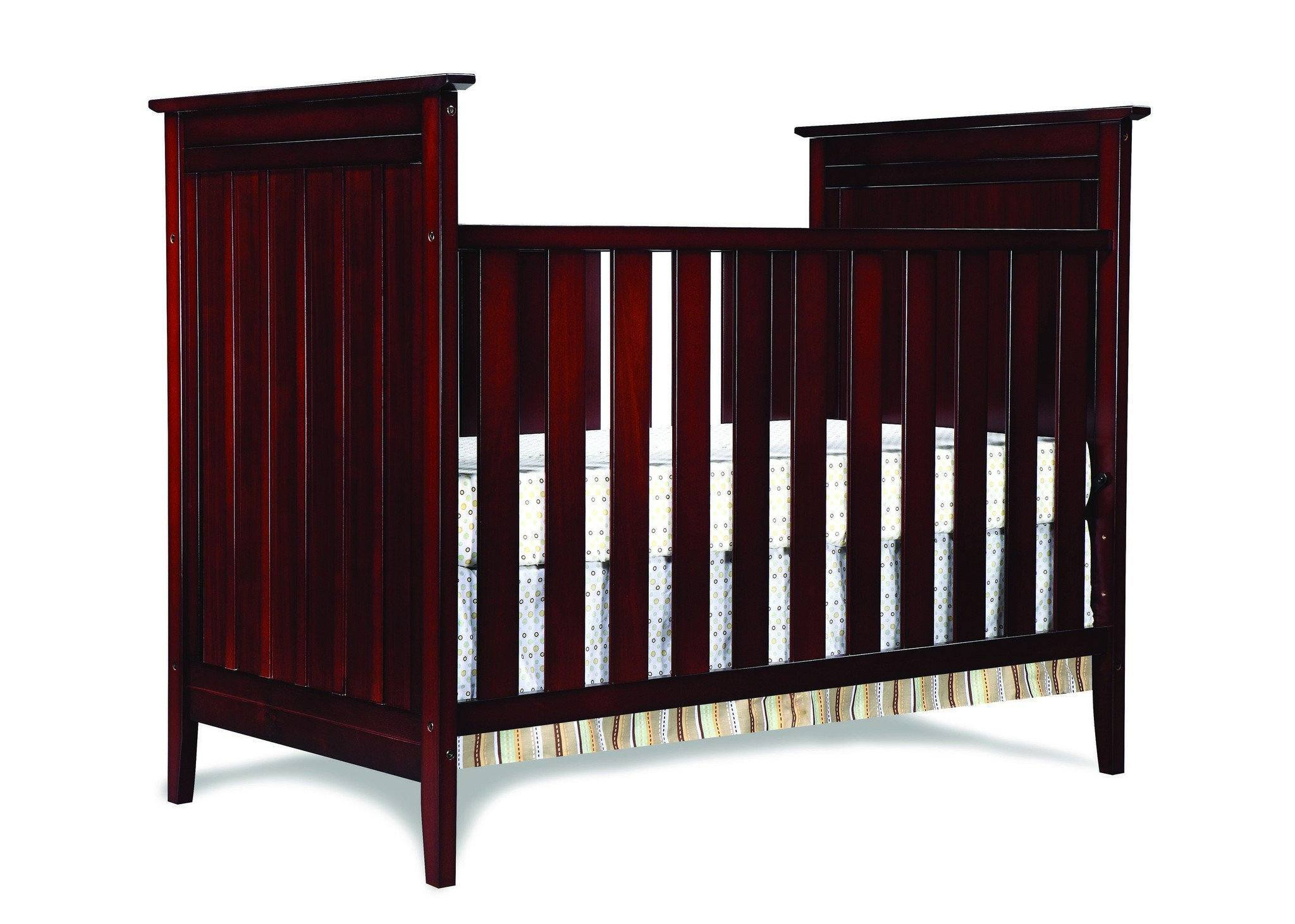 Simmons Kids Black Cherry Espresso (607) Melody 3-in-1 Crib, Crib Conversion d1d