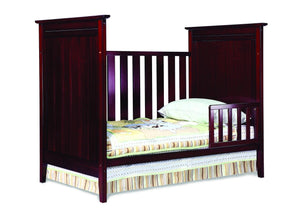 Simmons Kids Black Cherry Espresso (607) Melody 3-in-1 Crib, Toddler Bed Conversion d2d