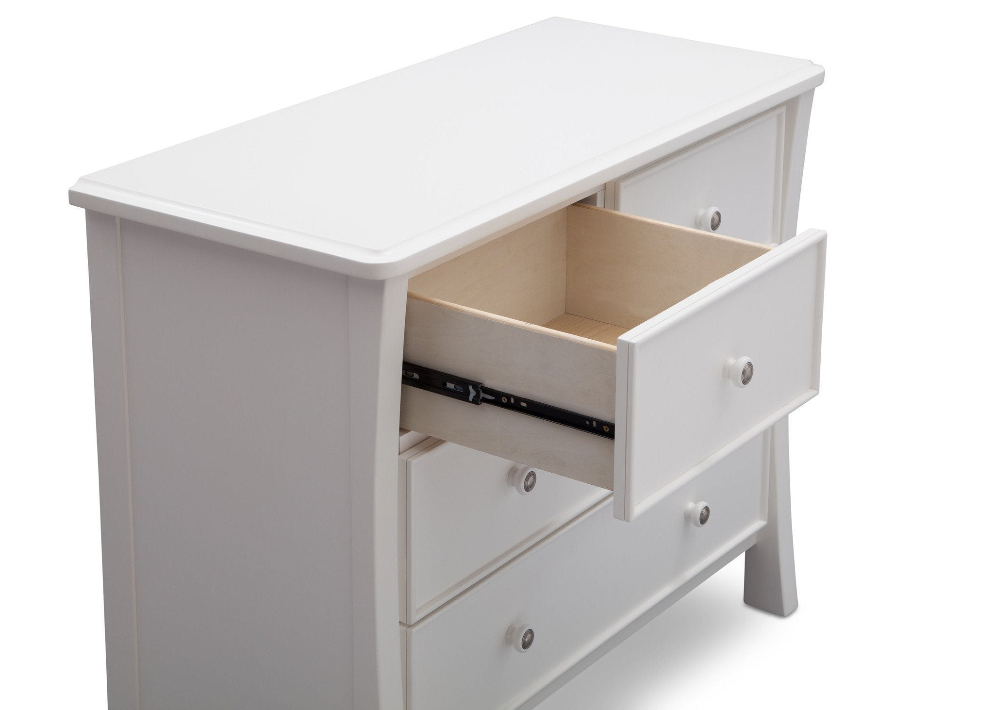 Simmons Kids White Ambiance (108) Madisson 4 Drawer Dresser with Changing Top, Detail View, a4a