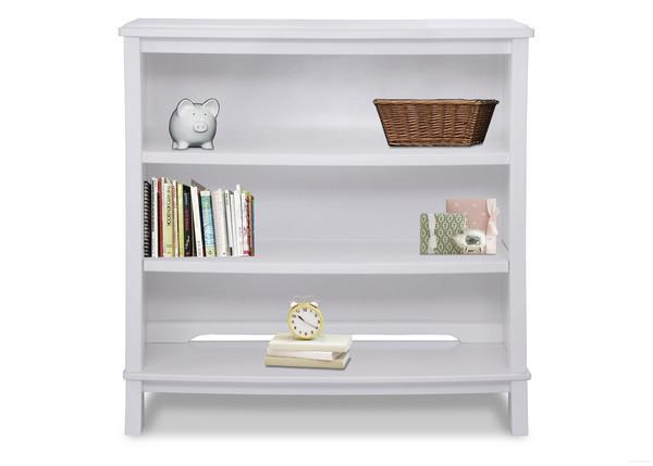 Simmons Kids White Ambiance (108) Madisson Bookcase & Hutch with Base and Props a2a