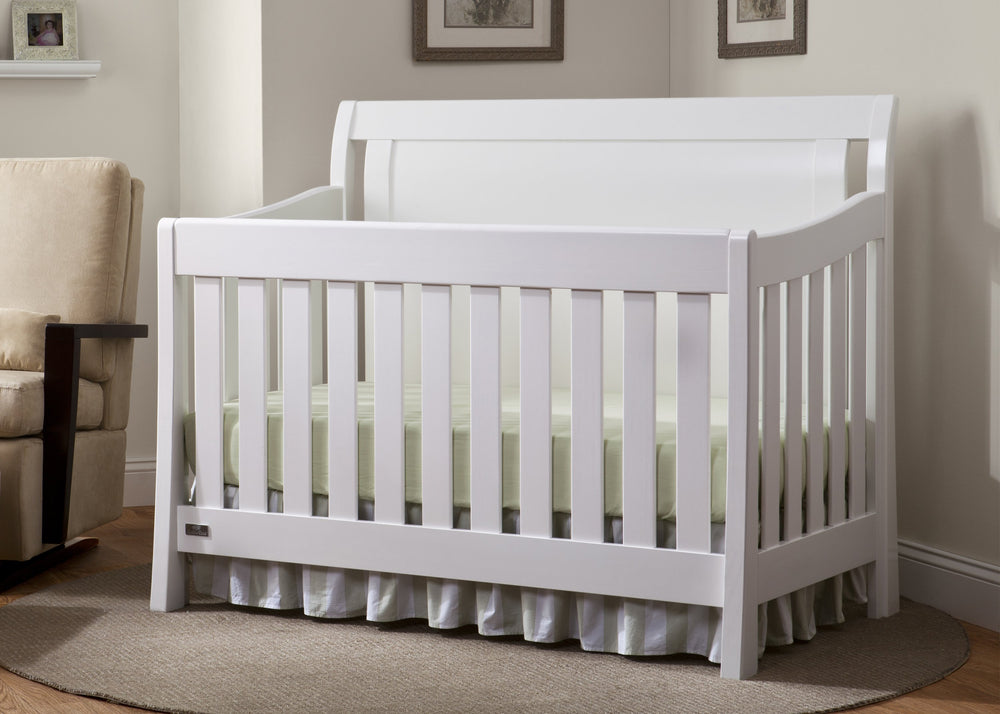 Simmons Kids White Ambiance (108) Madisson Crib 'N' More, Room Shots a0a