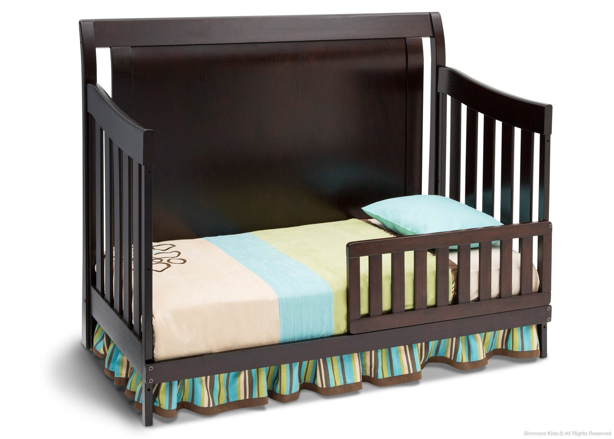 Simmons Kids Black Espresso (907) Madisson Crib 'N' More, Toddler Bed Conversion b3b