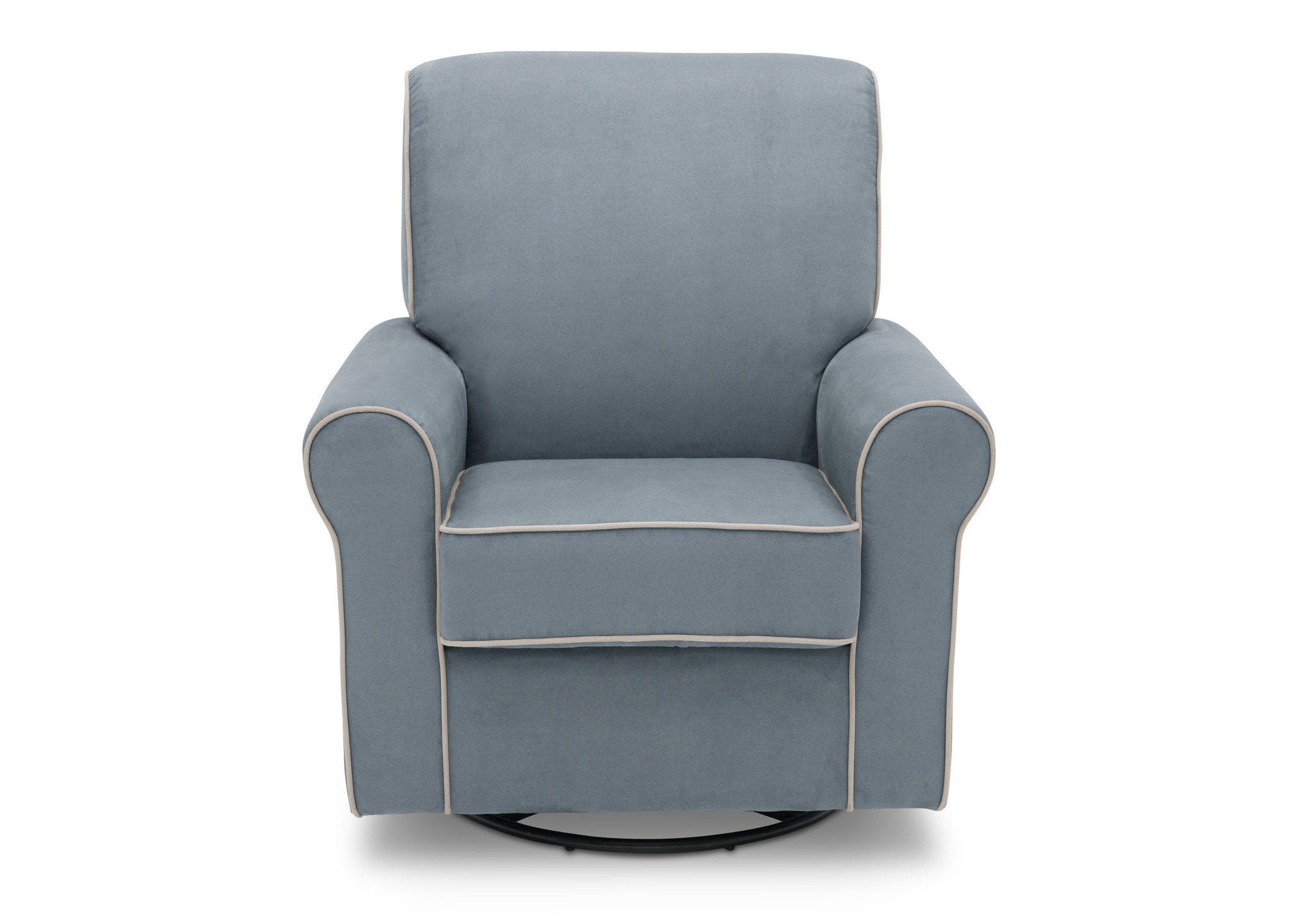 Gentil ... Simmons Kids Frozen Blue With Cream Welt (499) Rowen Upholstered Glider,  Front View ...