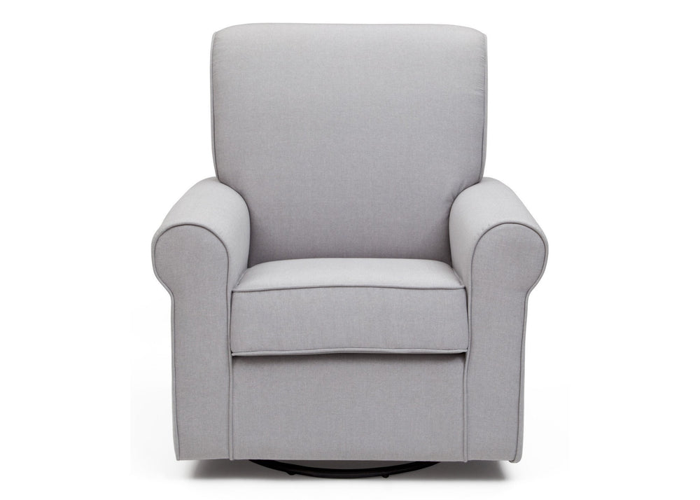 Simmons Kids Heather Grey (053) Avery Upholstered Glider, Front View a2a