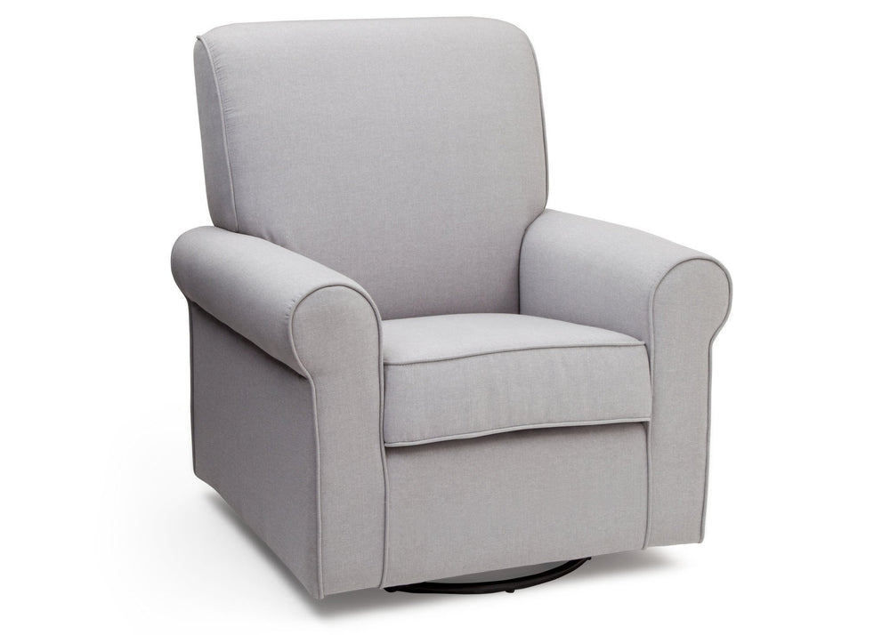 Simmons Kids Heather Grey (053) Avery Upholstered Glider, Right Side View a3a