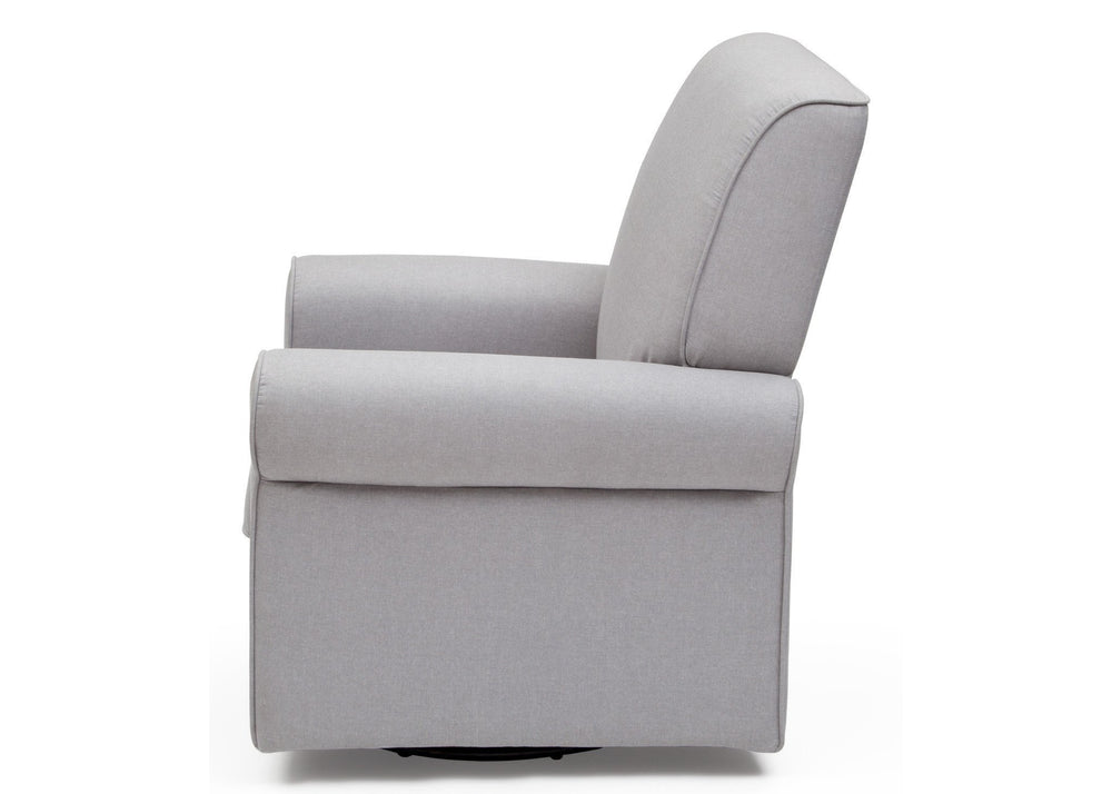 Simmons Kids Heather Grey (053) Avery Upholstered Glider, Full Left Side View a5a