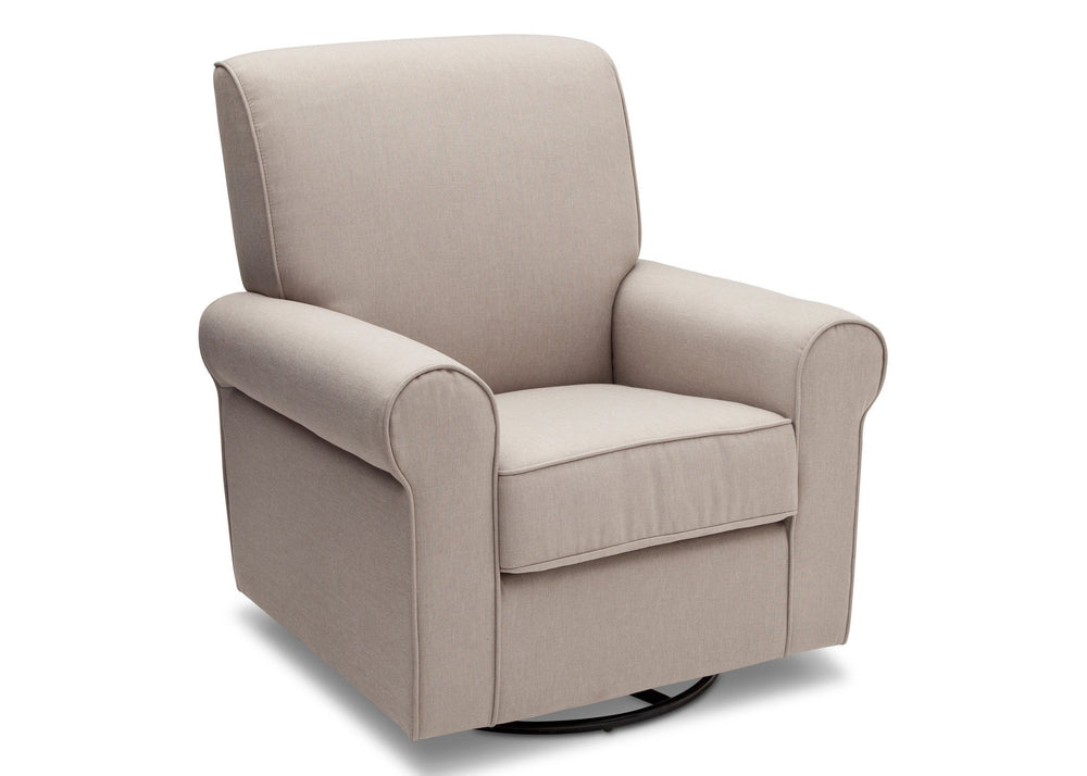 Simmons Kids Taupe (065) Avery Upholstered Glider, Right Side View b3b