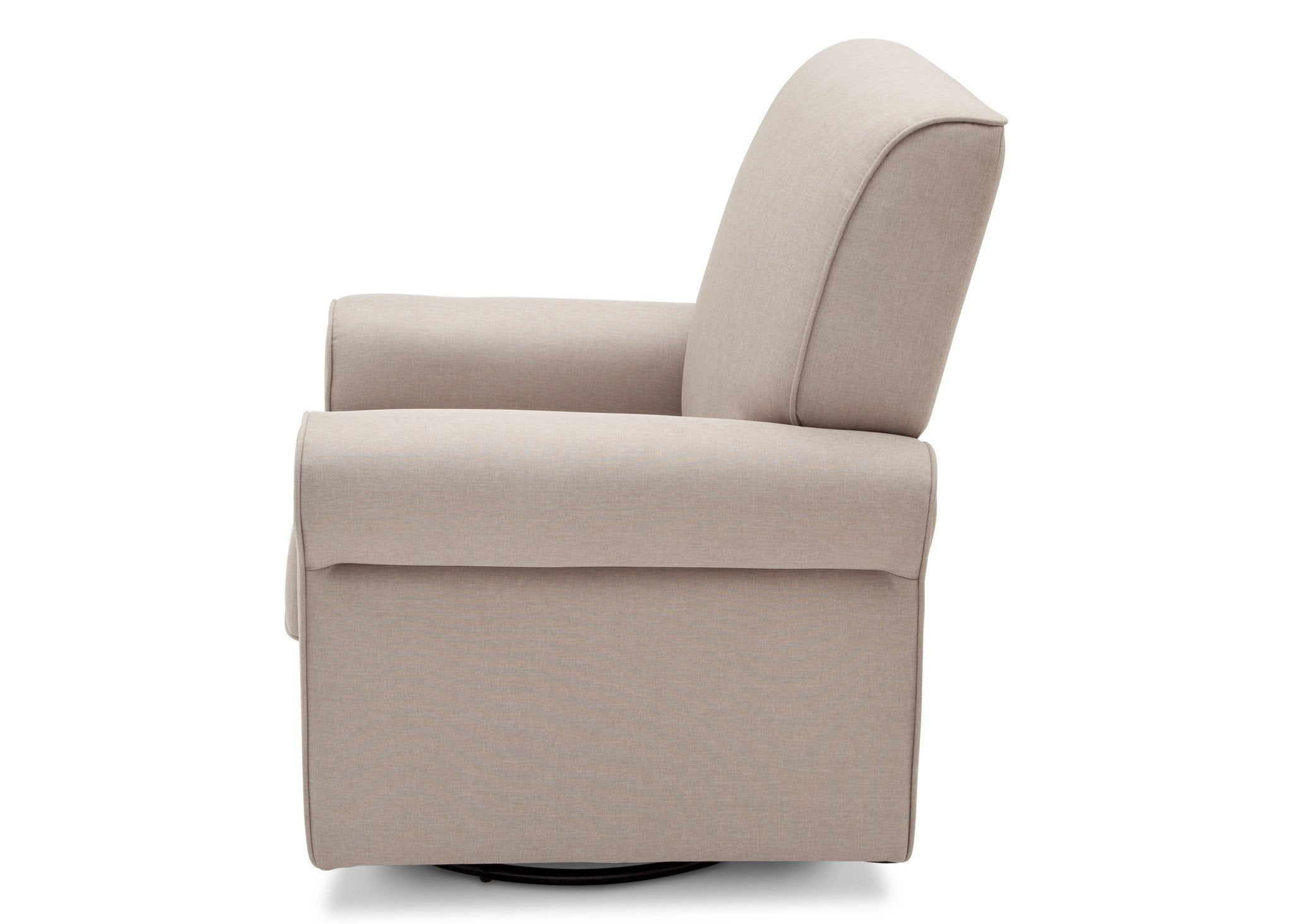 Simmons Kids Taupe (065) Avery Upholstered Glider, Full Left Side View b5b