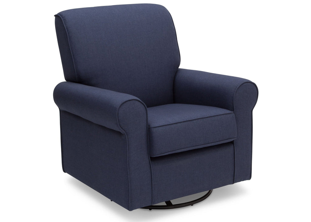 Simmons Kids Sailor Blue (424) Avery Upholstered Glider, Right Side View c2c