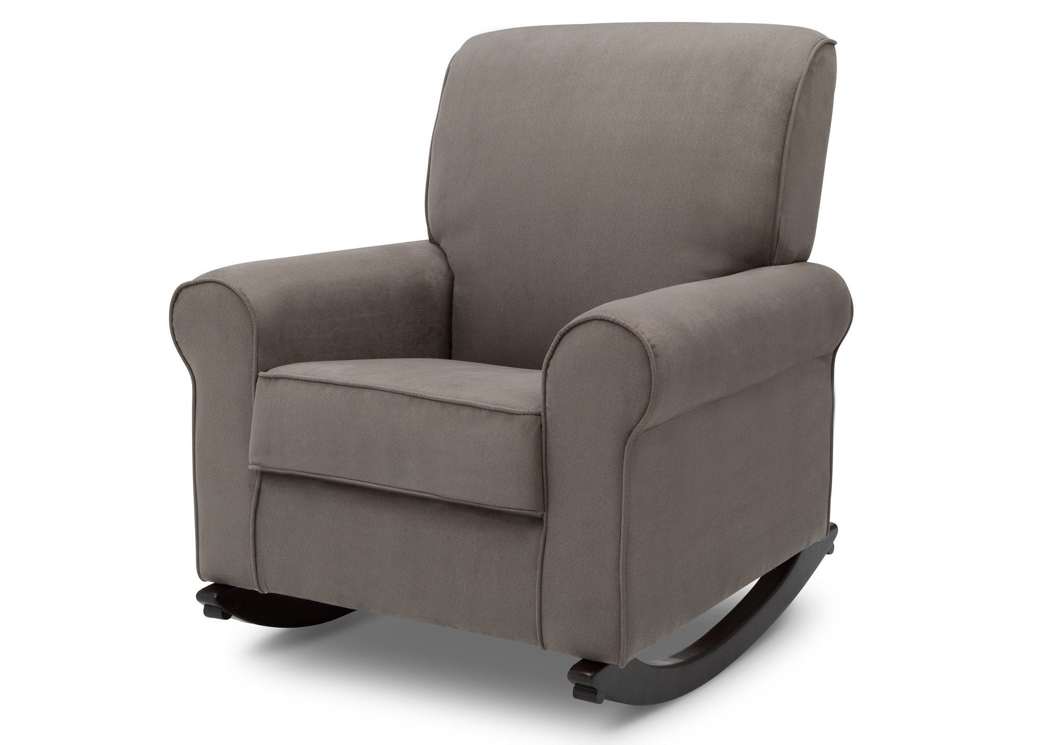 Delta Children Graphite (018) Rowen Nursery Rocking Chair, left side view, a4a