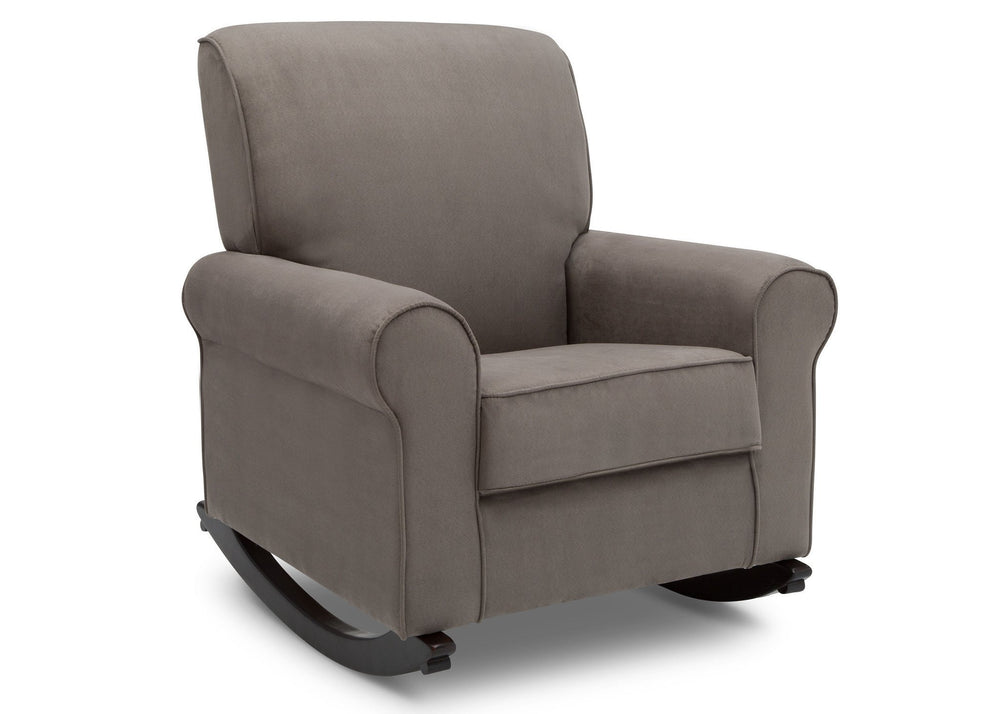 Delta Children Graphite (018) Rowen Nursery Rocking Chair, right side view, a3a