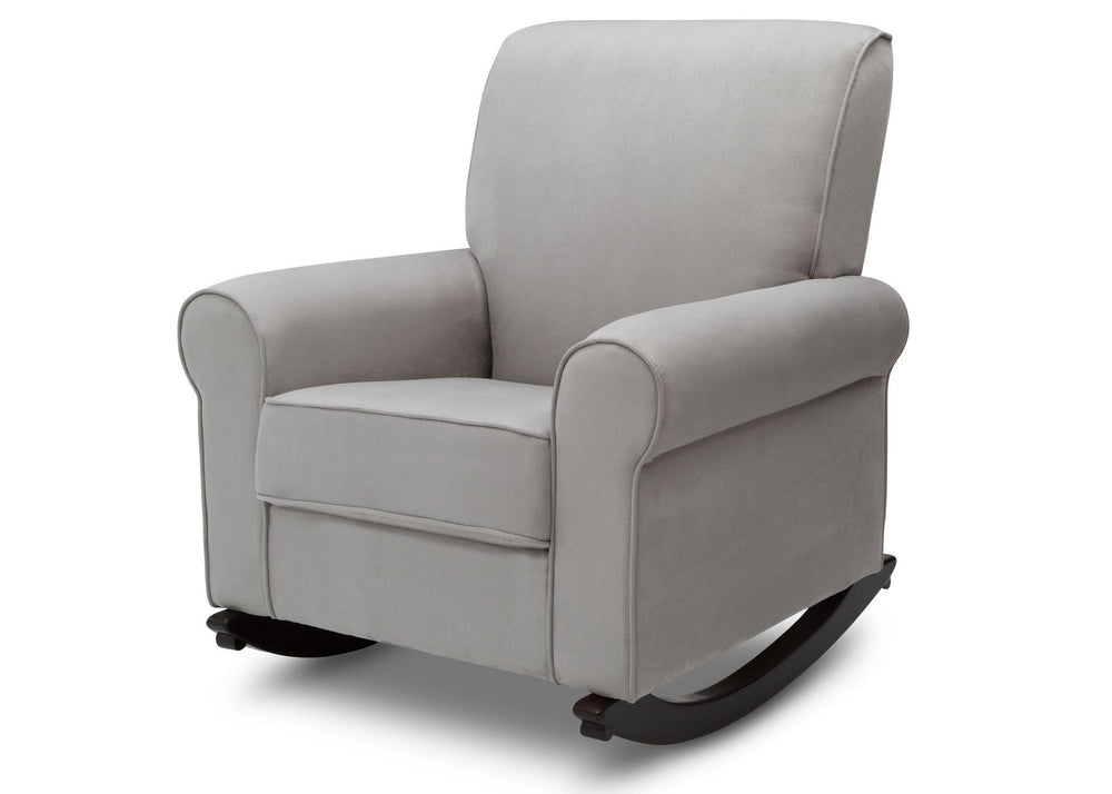 Delta Children Dove Grey (034) Rowen Nursery Rocking Chair, left side view, b4b