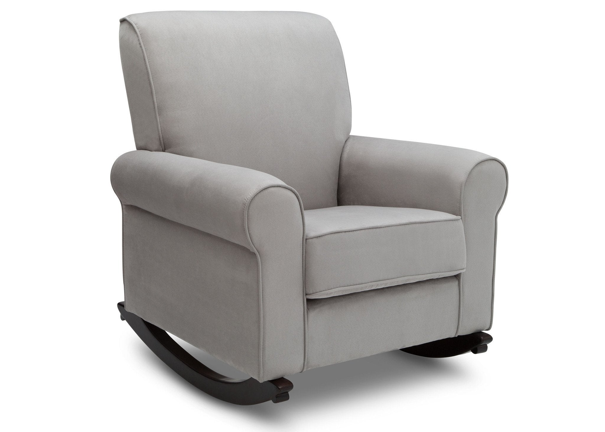 Delta Children Dove Grey (034) Rowen Nursery Rocking Chair, right side view, b3b