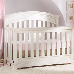 Simmons Kids Vintage White (120) Castille Crib 'N' More, Crib Conversion, Detailed View a2a