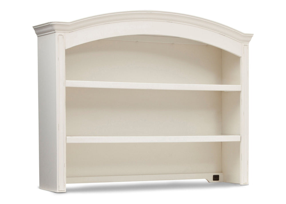 Simmons Kids Vintage White (120) Castille Bookcase & Hutch, Side View a1a