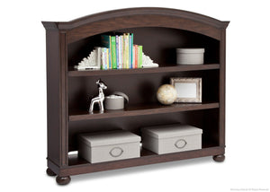 Simmons Kids Antique Espresso (915) Castille Bookcase & Hutch, Side View with atop Base with Props b3b