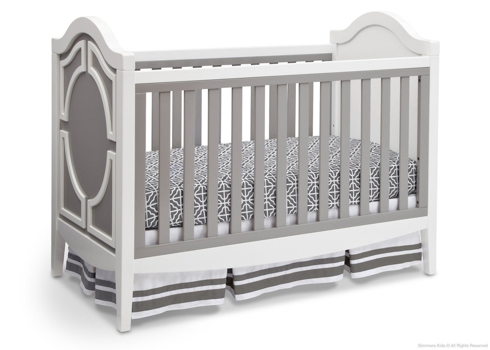Simmons Kids Antique White/Grey (066) Hollywood 3-in-1 Crib, Crib Conversion