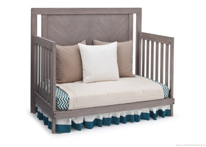 Simmons Kids Stained Grey (054) Chevron Crib 'N' More, Day Bed Conversion a4a