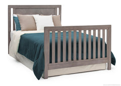Simmons Kids Stained Grey (054) Chevron Crib 'N' More, Full-Size Bed Conversion a5a