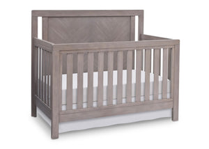 Simmons Kids Stained Grey (054) Chevron Crib 'N' More, Crib Conversion a2a