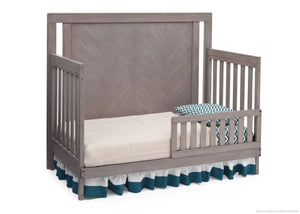 Simmons Kids Stained Grey (054) Chevron Crib 'N' More, Toddler Bed Conversion a3a