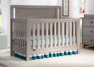 Simmons Kids Stained Grey (054) Chevron Crib 'N' More, Crib Conversion Room Shot a0a