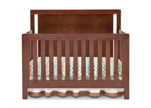 Simmons Kids Espresso Truffle (208) Chevron Crib 'N' More, Crib Conversion Front View b1b