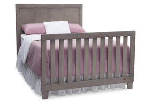 Simmons Kids Stained Grey (054) Bellante 4-in-1 Crib, Full-Size Bed Conversion with Footboard b4b