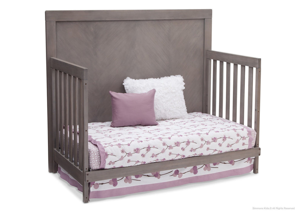 Simmons Kids Stained Grey (054) Bellante 4-in-1 Crib, Day Bed Conversion b3b