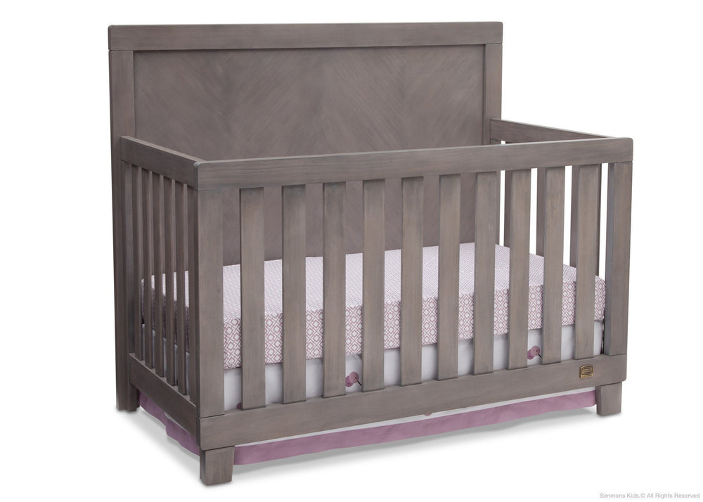 Simmons Kids Stained Grey (054) Bellante 4-in-1 Crib, Crib Conversion b2b
