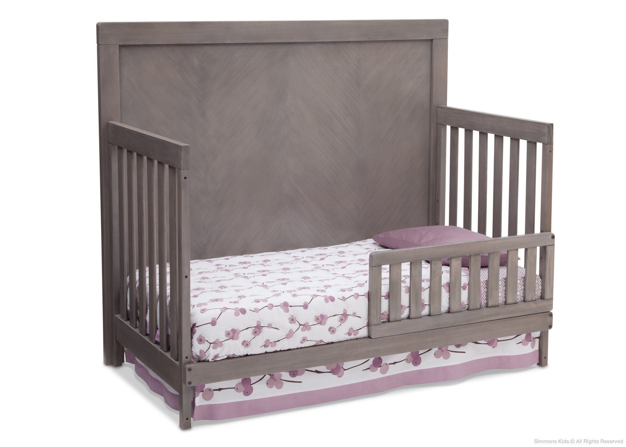 Simmons Kids Stained Grey (054) Bellante 4-in-1 Crib, Toddler Bed Conversion b2b