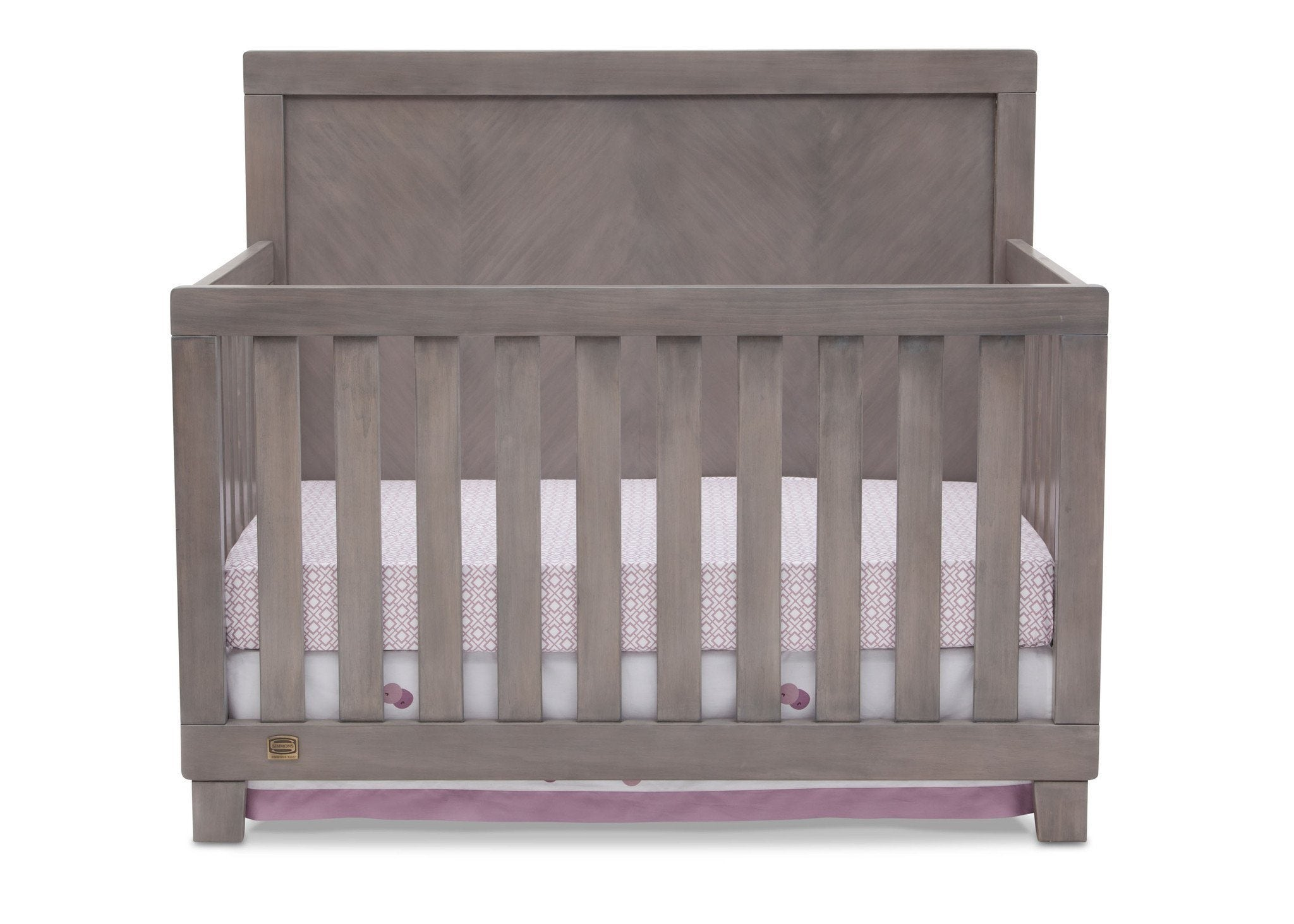 Simmons Kids Stained Grey (054) Bellante 4-in-1 Crib, Crib Conversion b1b
