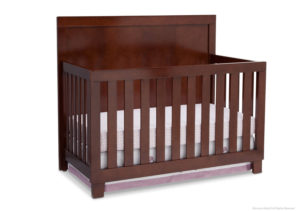 Simmons Kids Espresso Truffle (208) Bellante 4-in-1 Crib, Crib Conversion