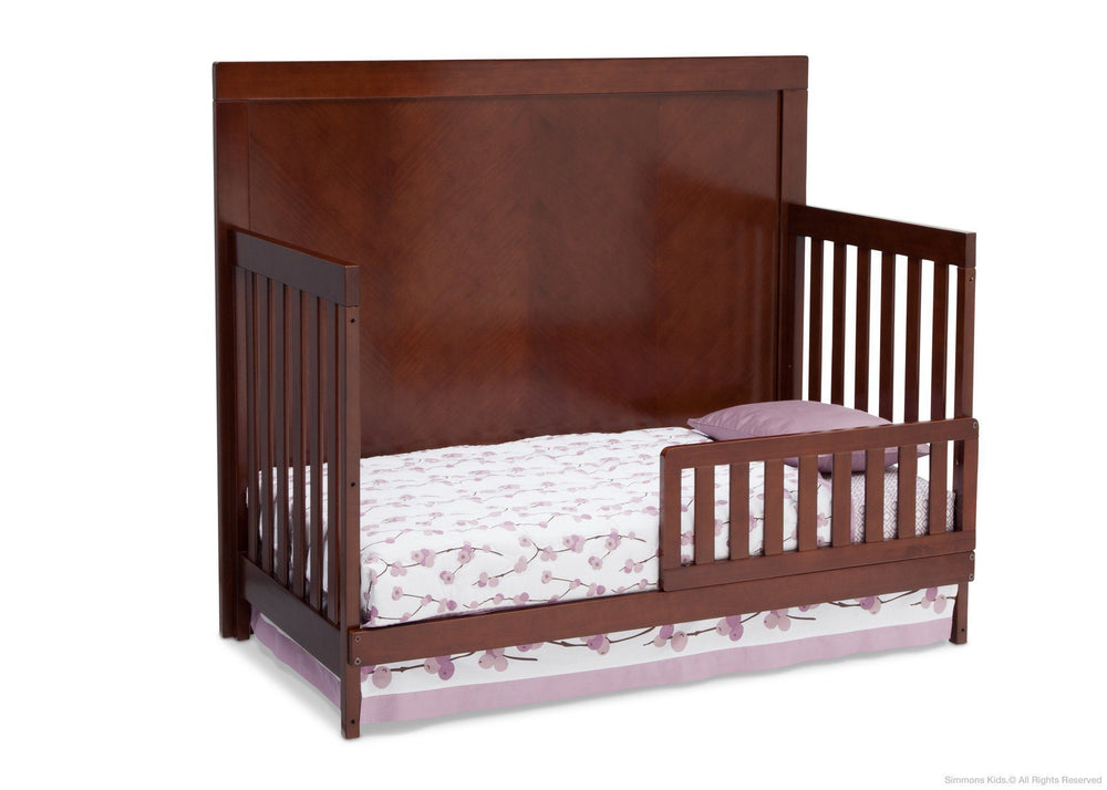 Simmons Kids Espresso Truffle (208) Bellante 4-in-1 Crib, Toddler Bed Conversion a4a