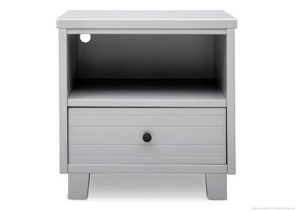 Simmons Kids Grey (026) Rowen Nightstand, Front View a1a
