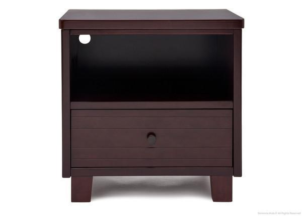 Simmons Kids Black Espresso (907) Rowen Nightstand, Front View b1b