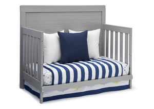 Simmons Kids Grey (026) Rowen Crib (320180), Side View with Day Bed Conversion a5a