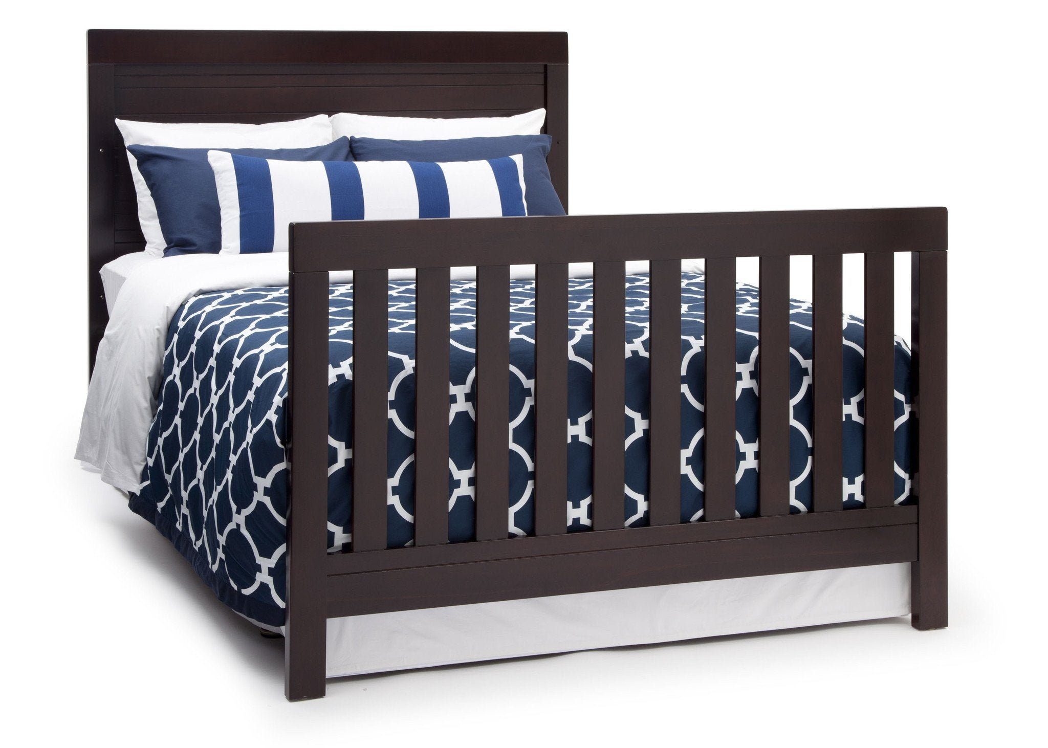 Simmons Kids Black Espresso (907) Simmons Kids Rowen Crib (320180), Side View with Full-Size Bed Conversion b5b
