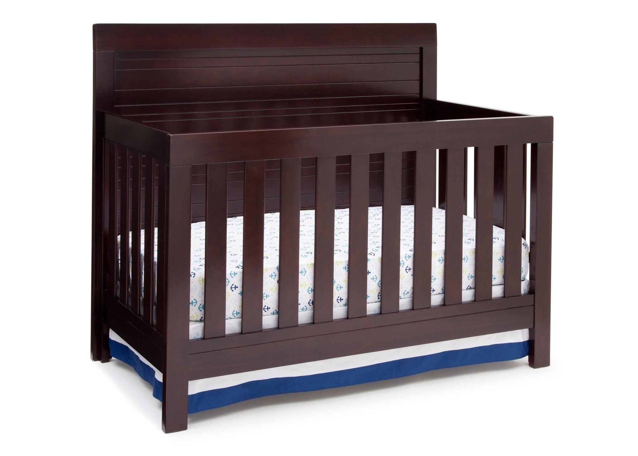 Simmons Kids Black Espresso (907) Simmons Kids Rowen Crib (320180), Front View with Crib Conversion b1b