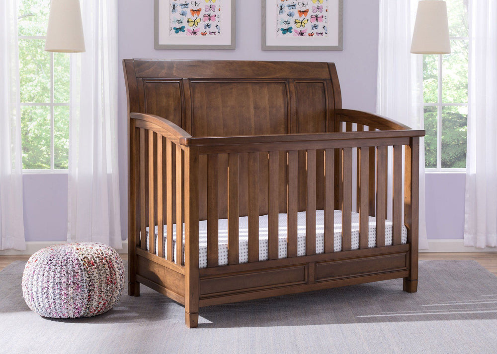 Simmons Kids Antique Chestnut (2100) Kingsley Crib 'N' More, Full-size Bed Conversion Room b0b