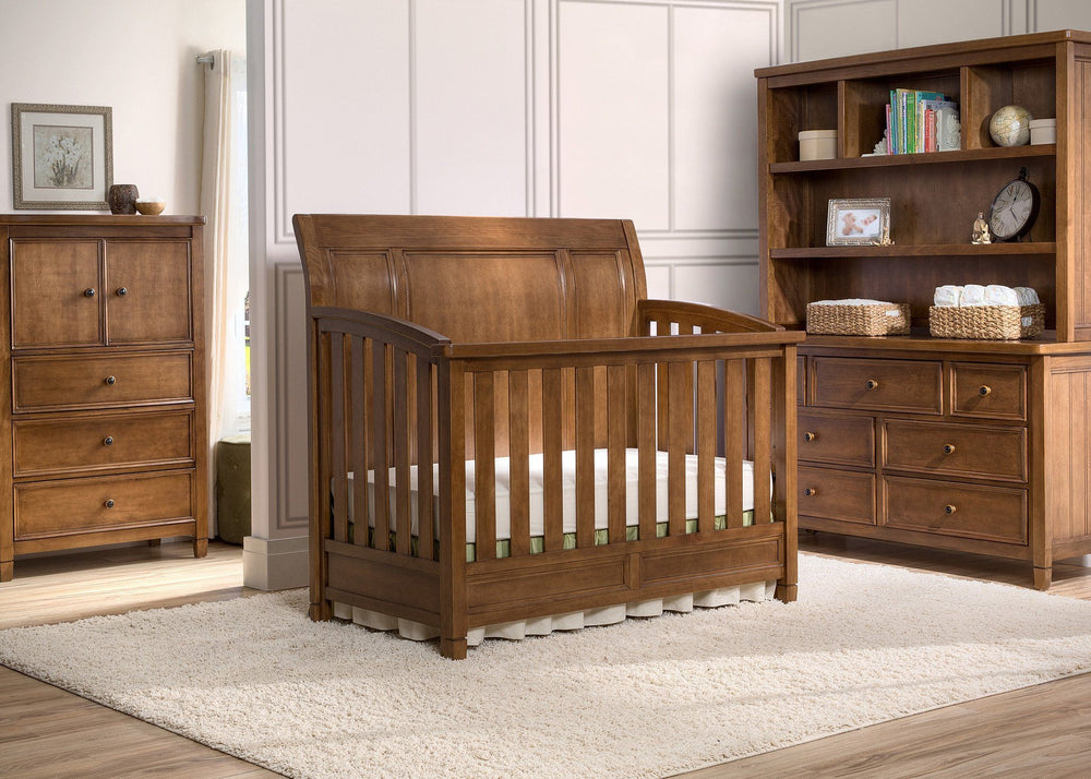 Simmons Kids Weathered Chestnut (223) Kingsley Crib 'N' More, Crib Conversion in Setting a1a