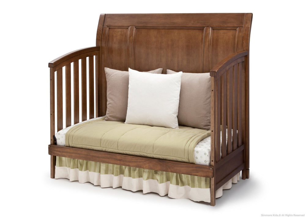 Simmons Kids Weathered Chestnut (223) Kingsley Crib 'N' More, Day Bed Conversion a5a