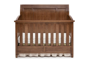 Simmons Kids Weathered Chestnut (223) Kingsley Crib 'N' More, Crib Conversion Front View a2a