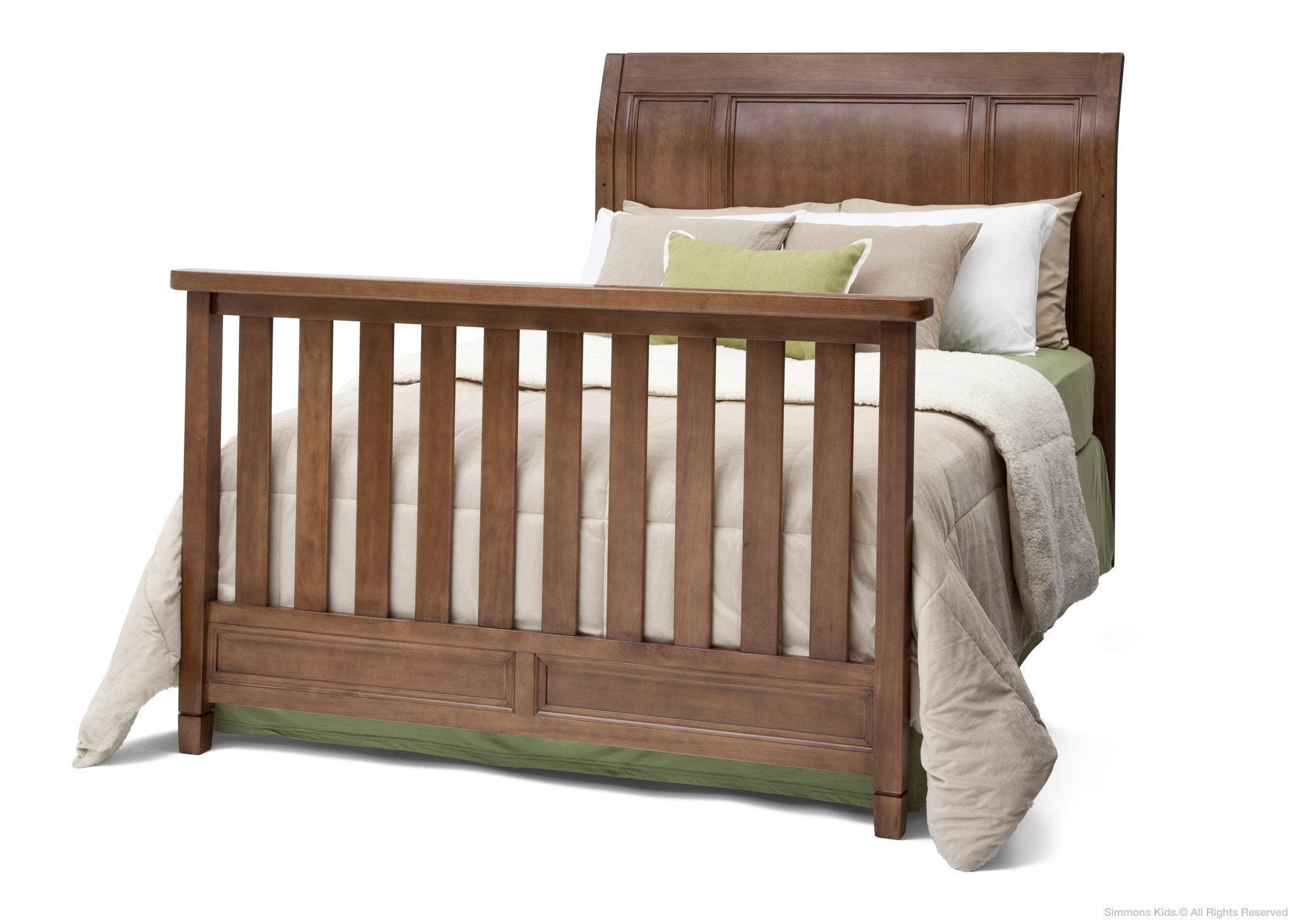 Simmons Kids Weathered Chestnut (223) Kingsley Crib 'N' More, Full-Size Bed Conversion a6a