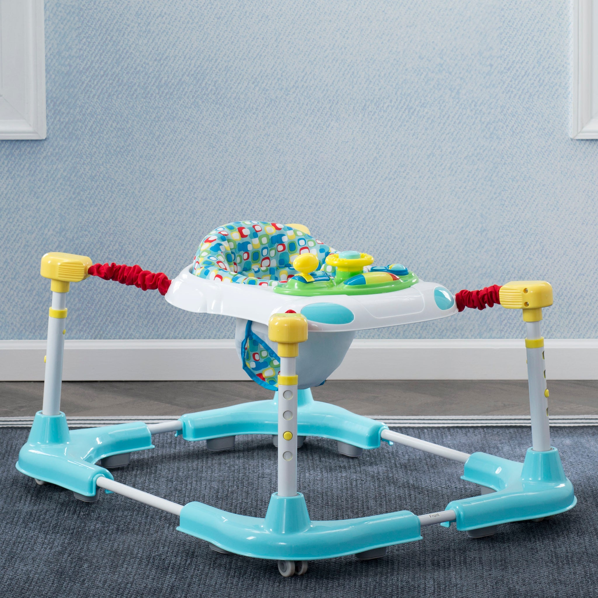 First Steps 3-in-1 Sit-to-Stand Bouncer, Walker and Play Station