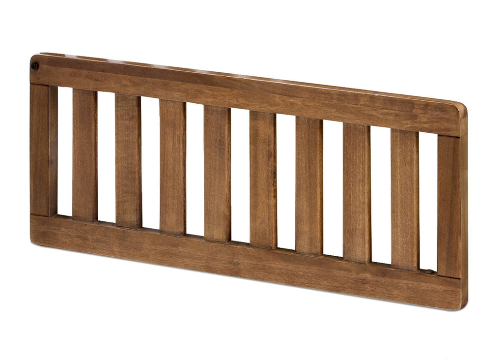 Simmons Kids Weathered Chestnut (223) Toddler Guardrail (324725), Side View a1a for Convertible Kingsley Crib 'N'More
