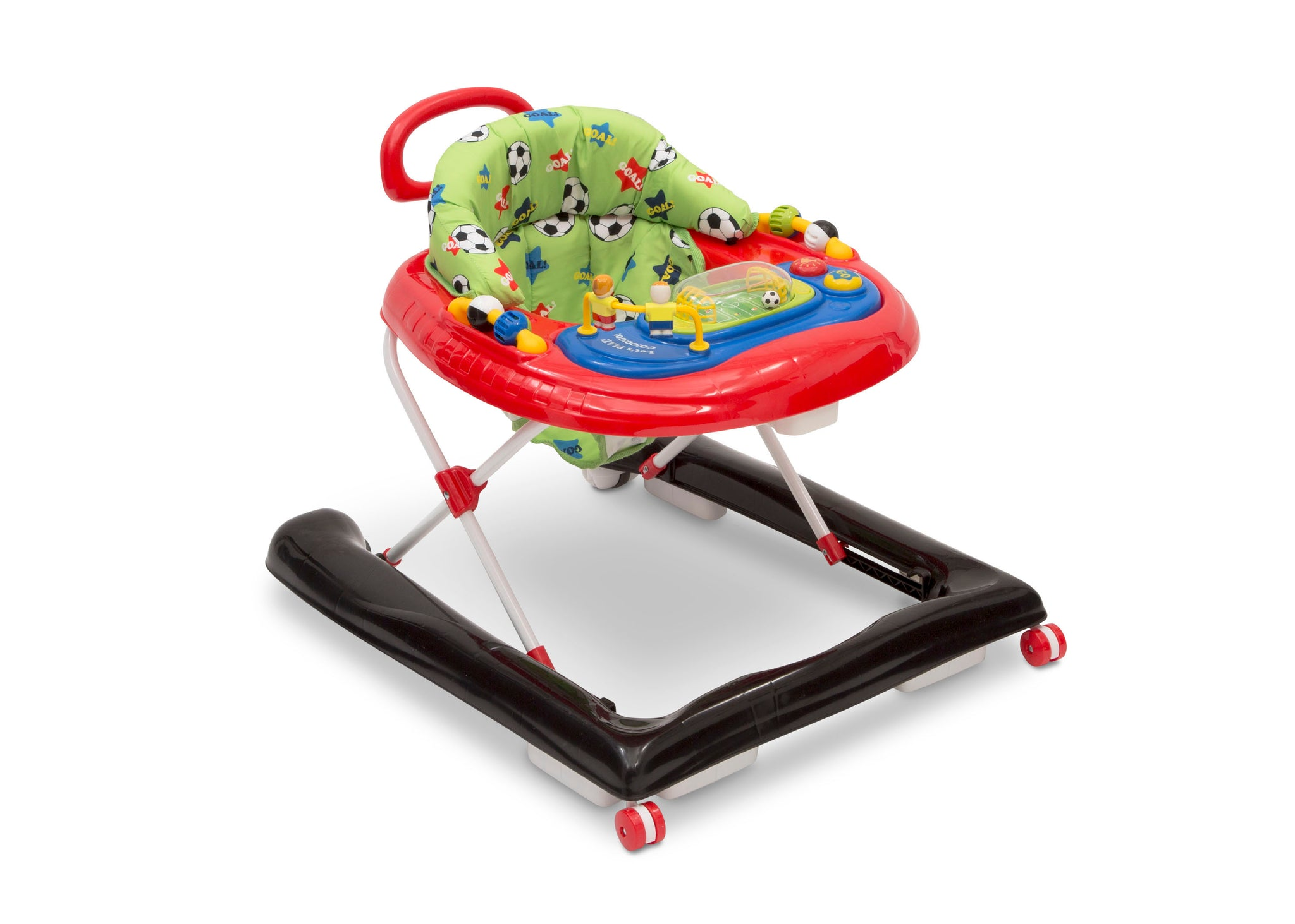 Delta Children Soccer (2061) Lil Goal Keeper 2-in-1 Baby Walker, Right Silo View